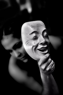 face-behind-mask-pretense